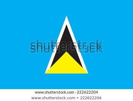 Flag of Saint Lucia Stock photo © creisinger