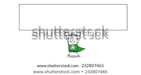 Süper geri dönüşüm adam yatay afiş Stok fotoğraf © tintin75