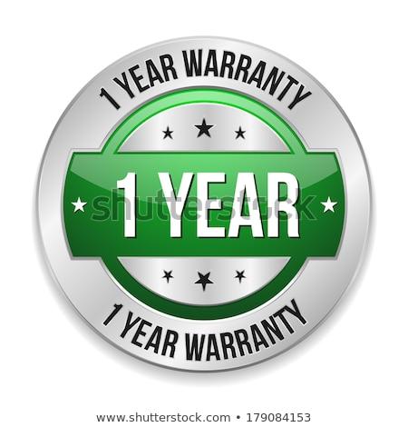 Stock photo: 1 Year Warranty Green Vector Icon Button