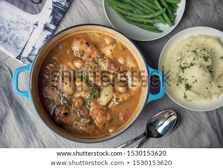 French chicken casserole Stock photo © Hofmeester