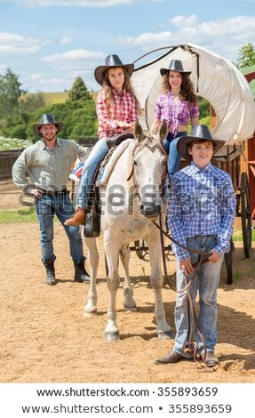 Cowboy Wagon and Hat Stock photo © searagen