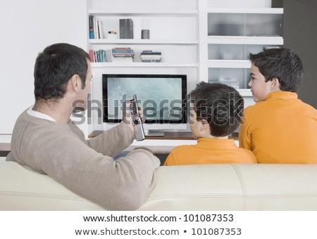 three children on sofa 2 watching tv Stock photo © Paha_L