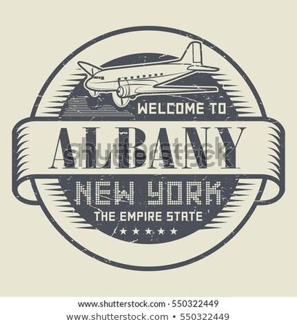 Ny testo pesante cartoon nome città Foto d'archivio © blamb