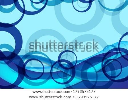 clean blur bokeh wavy style vector background design Stock photo © SArts