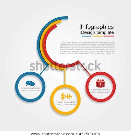Címke sablonok három színek illusztráció terv Stock fotó © bluering