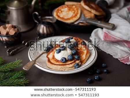 американский · йогурт · черника · пластина · свежие - Сток-фото © digifoodstock