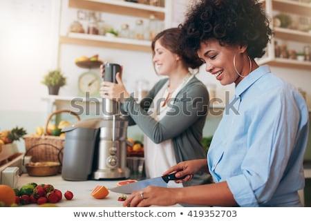 ウエートレス レストラン 小さな 幸せ サービス ストックフォト © wavebreak_media