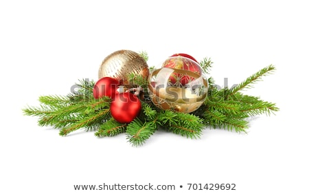 Christmas decorations in traditional red and green colors stock photo © dariazu