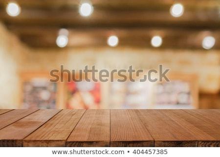 gebak · perziken · houten · tafel · voedsel · groep - stockfoto © wavebreak_media