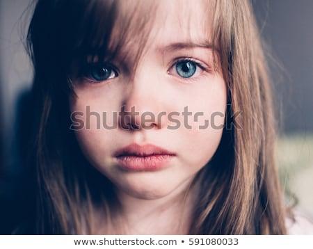 Triste nina retrato cute posando cámara Foto stock © alexaldo