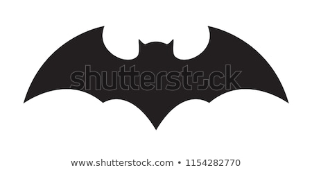 Bat ícone símbolo preto design de logotipo vetor Foto stock © blaskorizov