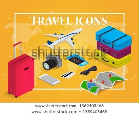 Bagaje călătorie timp călători vector Imagine de stoc © robuart