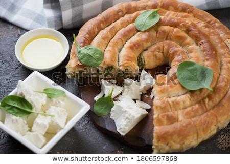 Spiral phyllo pie with feta Stock photo © Alex9500