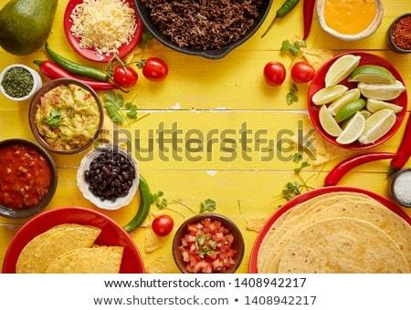 fasulye · meksika · yemekleri · sebze · lezzetli · gıda · meyve - stok fotoğraf © dash