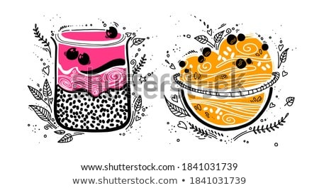 завтрак Ингредиенты сырой овсяный банан Сток-фото © tycoon