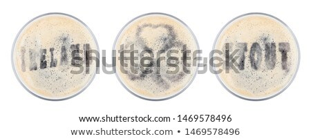 glas · bier · top · vorm · brieven · witte - stockfoto © denismart