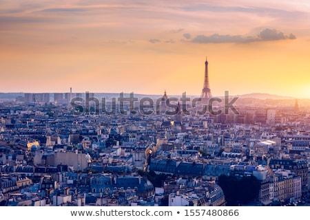 Paris cityscape with  aerial architecture Stock photo © vapi