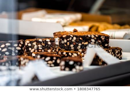 Sobremesa tradicional italiano papel comida chocolate Foto stock © Alex9500