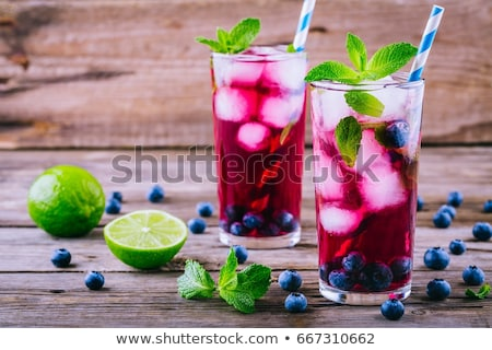 眼鏡 ブルーベリー ジュース 2 新鮮な 液果類 ストックフォト © Alex9500