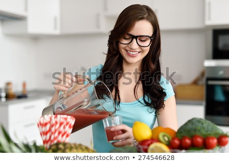 Fresh home made fruit juices Stock photo © lovleah