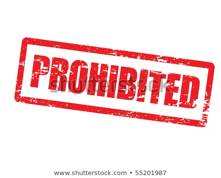 Banned Rubber Stamp Vector Stock photo © THP