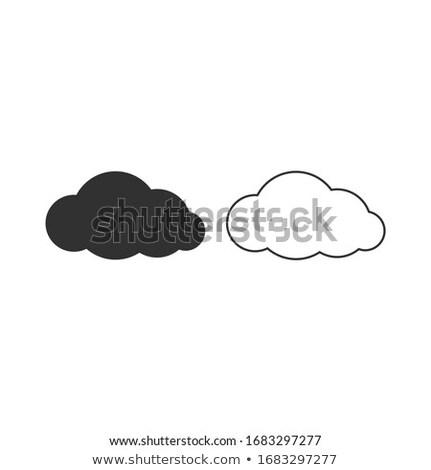 Nuage ciel icône météorologiques stockage de données stock Photo stock © kyryloff