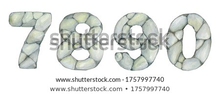 Construction sketches of 7 8 9 0 letters Stock photo © evgeny89