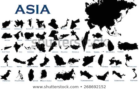 Índia país silhueta bandeira isolado branco Foto stock © evgeny89