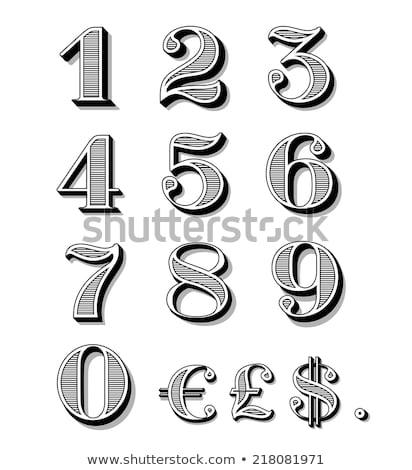 装飾的な 2 番号 フォント 点在 薄い ストックフォト © yupiramos