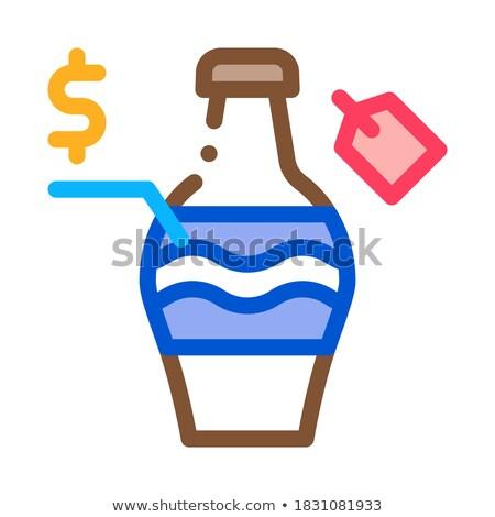 Açık artırma satış şişe ikon vektör Stok fotoğraf © pikepicture