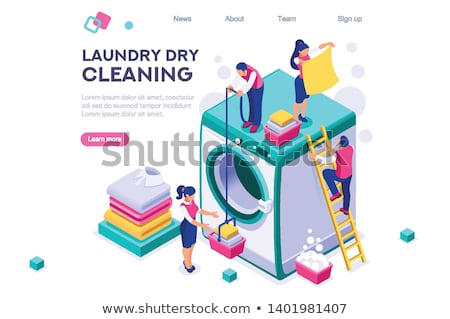 Laundry Service Washed T-shirt isometric icon vector illustration Stock photo © pikepicture
