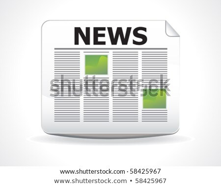 abstract glossy news icon stock photo © pathakdesigner