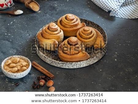 Stock photo: Four sugared dough-nuts