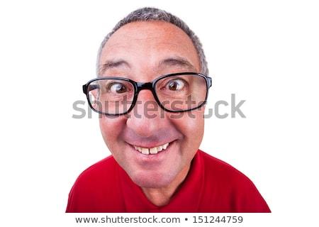 Velho olho de peixe retrato foto homem sixties Foto stock © sumners