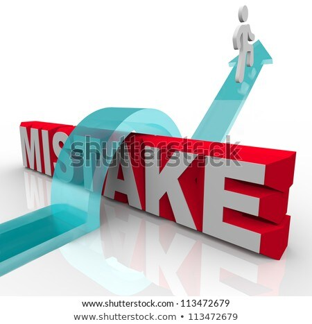 Mistake Word Person Overcoming Error to Success Stock photo © iqoncept