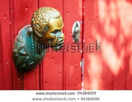 African bronze sculpture Stock photo © smuki