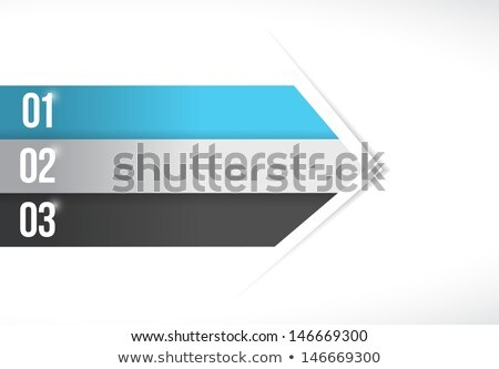 Color Lines Arrow For Customization Info Graphics Photo stock © alexmillos
