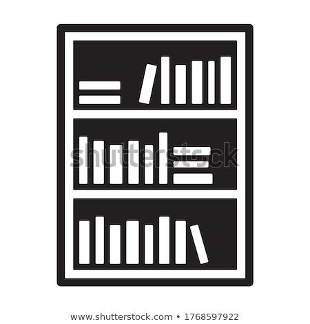 Wektora ikona półka na książki Zdjęcia stock © zzve