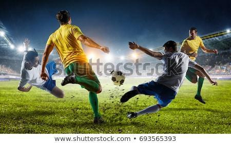 Partido de fútbol dos fútbol jugadores equipo campo Foto stock © val_th