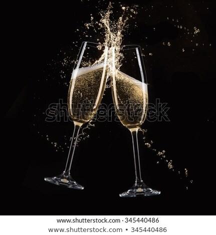 dwa · okulary · szampana · odizolowany · biały - zdjęcia stock © taden
