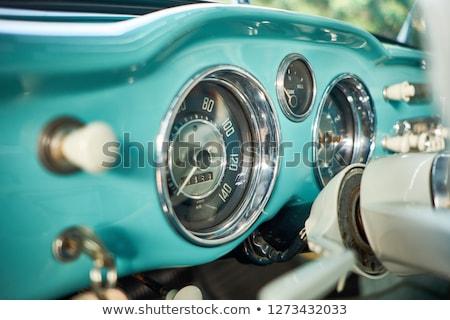 green classic car stock photo © iko