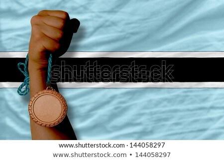 Bronze medal for sport and  national flag of botswana    Stock photo © vepar5