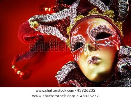 Belle femme carnaval masque résumé visage design Photo stock © Nejron