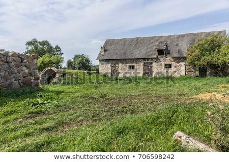 Old stone farm Stock photo © smithore
