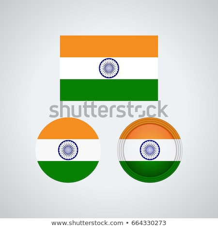 ícone · bandeira · Índia · emblema · isolado · branco - foto stock © mikhailmishchenko