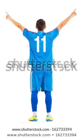 biały · człowiek · palec · piłka · nożna · odizolowany · biały · piłka · nożna - zdjęcia stock © wavebreak_media