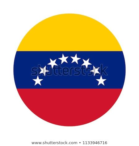 Botão bandeira Venezuela metal quadro viajar Foto stock © MikhailMishchenko