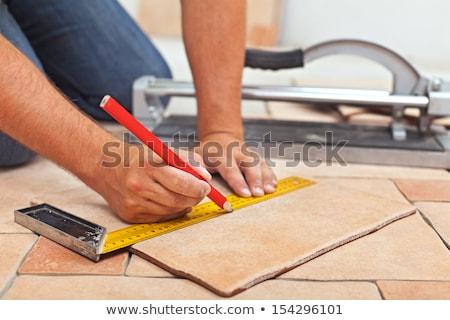 керамической · плитка · таблице · увидела · Cut - Сток-фото © byrdyak