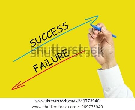 empresária · escrita · vermelho · marcador · caneta · transparente - foto stock © stevanovicigor