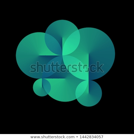 blue abstract conical gradient background Stock photo © SArts
